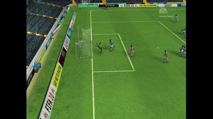 Много добър тoповен удар на Fifa 2010 с Росицки