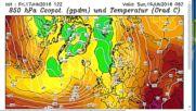 Специализирана прогноза за бури над Северозападна България 18-19 Юни 2016 г.