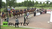 Russia: Cossacks 'Horse Ride' to Berlin departs from Moscow