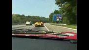Street Race - Lamborghini Murcielago VS Ford GT on highway