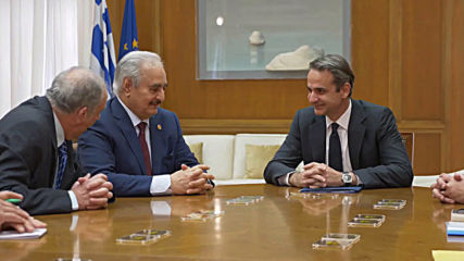 Greece: PM Kyriakos meets LNA's Haftar ahead of Berlin conference on Libya