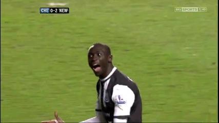 Chelsea 0 - 2 Papiss Cisse - Amazing goal !!!