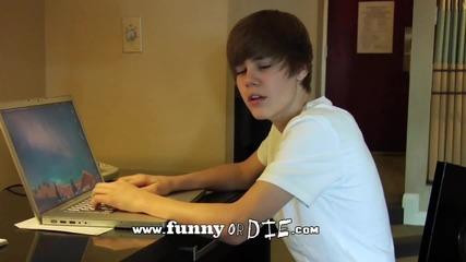 Justin Bieber-говори смешно