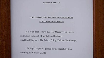 UK: PM Johnson issues statement after death of Prince Philip