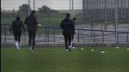 Дъжд посрещна Лудогорец на последната тренировка преди финала