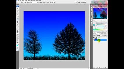 Photoshop урок - Свежа нощ (bg audio)