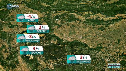 Прогноза за времето на NOVA NEWS (26.01.2021 - 11:00)