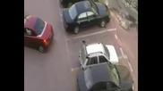 жени на паркинга отмъщението 100 смях