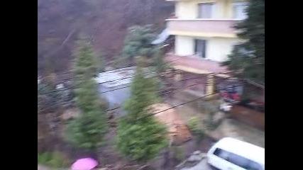 Сняг в Петрич - 12.01.2013г.
