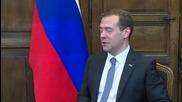 Germany: Medvedev meets Bavarian Prime Minister Seehofer in Munich