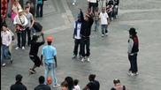 Street Battle - Yak Films - Les Twins Vs. Bones+pee Fly Vs. Laura+boubou - Flexi