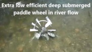 Pontoon Barge Patented Gravity spring float boosted hydro-kineti turbines for slow moving water flow