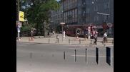 Почва ремонт на пространството около паметника на патриарх Евтимий в София
