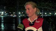Brazil: Russian cyclist Olga Zabelinsaya celebrates silver medal win in Rio