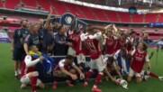 Арсенал вдигна ФА Къп, Обамеянг я изпотроши