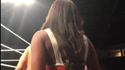 Brandi gets a rare ringside kiss after coming face to face with her husband's opponent - Video Blog