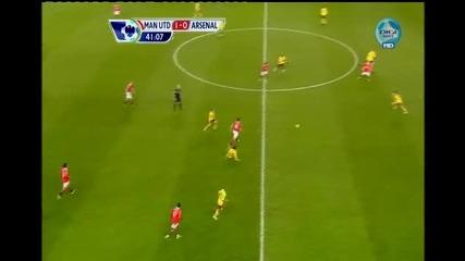Супер гол на Парк Джи Сунг! Манчестър 1 - 0 Арсенал