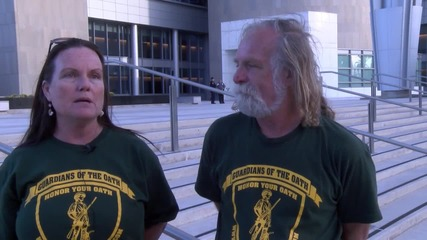 USA: Bundy supporters protest outside Las Vegas courthouse