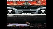 wwe smackdown vs raw 2009 nds John cena vs Randy Orton Table match