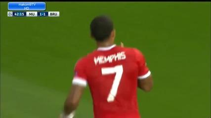 Манчестър Юнайтед 3:1 Брюж/ Шампионска Лига