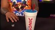 Hornswoggle shows The Usos the correct way to drink Sonic slushes: Smackdown, July 18, 2014