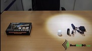 Силен малък акумулаторен фенер с батерия 18650 зарядно 220v и 12v за къмпинг риболов кола палатка