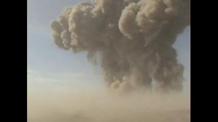 Избухване на почти 100 тона експлозив ..