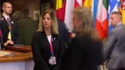 Belgium: Theresa May arrives for second day of EU summit in Brussels