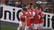 Арсенал порази мълниеносно Барса с късен обрат (16.02.2011)