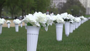 USA: Memorial with 40k flowers honours annual gun violence victims in DC