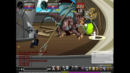 Aqw:dobromir2001 and harrypotter1337 battle Sky Pirate Dragon