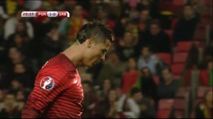 Португалия – Сърбия 2:1, евроквалификация