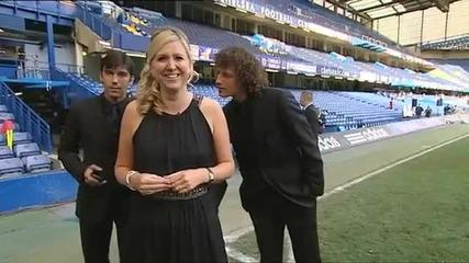 Дрогба се бъзика с репортерка