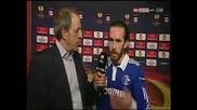 наказателен удар , червен картон и голяма съдийска грешка Twente - Schalke ( 08.03.2012)