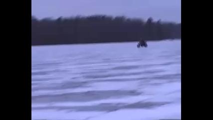 Yamaha R1 on ice