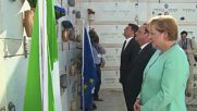 Italy: Merkel, Hollande and Renzi pay respects to EU founding father Altiero Spinelli