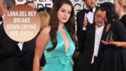 Lana Del Rey cries on stage after kidnapper arrested