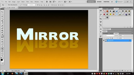 Огледален ефект с Photoshop Cs5 - Ps Tutorial #2