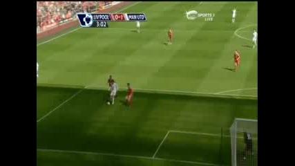 Манчестър Юнайтед 1:2 Ливърпул -Тевес гол 13.09.08