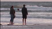 Ветровито на плаж в Сарасота, Флорида 11.1.2014