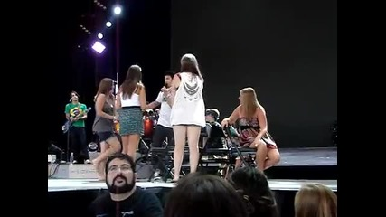 Jeffrey and the Jonas Brothers Sound Check Tinely Park 7/8/10