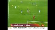 """Драма в последните секунди класира """"Борусия"""" (Д) - 3:2 срещу """"Малага"""""""