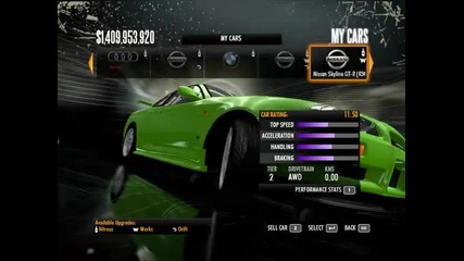 My cars in Nfs Shift Part 1