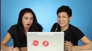 Азиатки гледат азиатско порно за пръв път :d