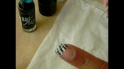 Лесен начин да си направите модерен черно - бял маникюр