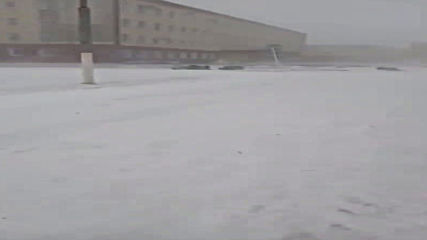 Russia: Severe blizzard rattles through Kurgan region