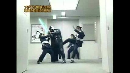 Дарт Вейдър срещу японски ченгера *смях*