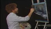 S03 Радостта на живописта с Bob Ross E04 - зимна нощ ღобучение в рисуване, живописღ