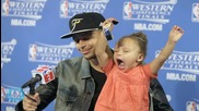 Riley Curry Adorably Demands to Hold the NBA Championship Trophy
