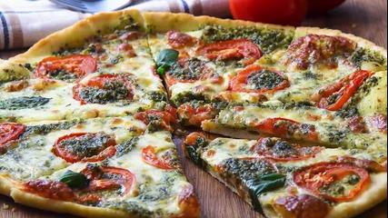 Goodlife: Пица с песто от босилек и домати